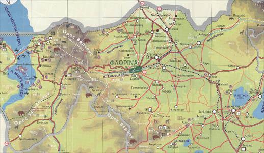 Χάρτης Φλώρινας